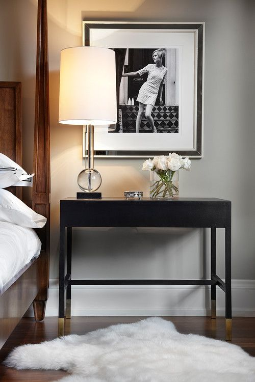 masculine bedside table