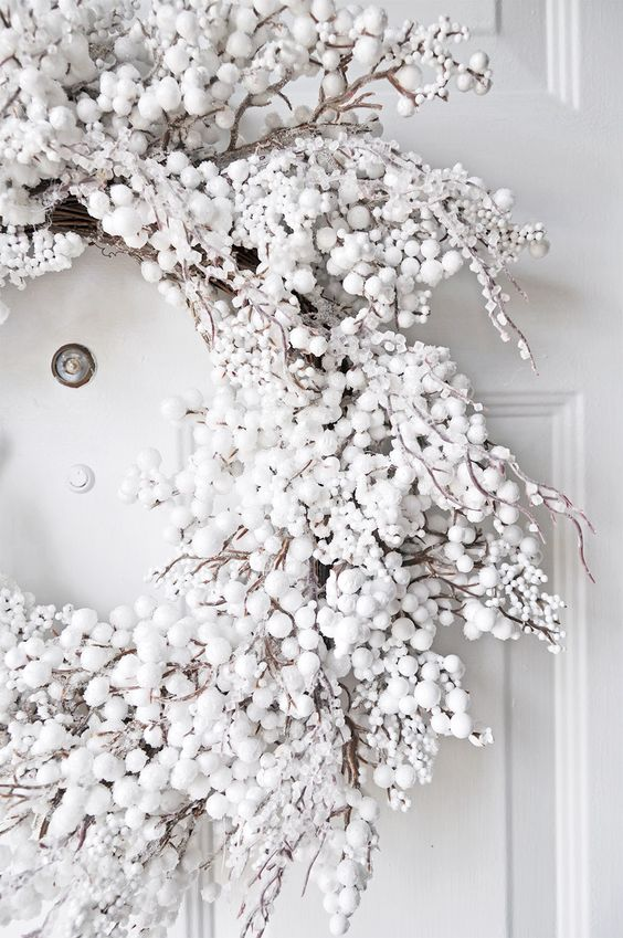 white holiday decor