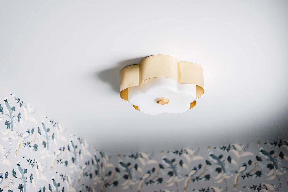 brass flushmount light fixture