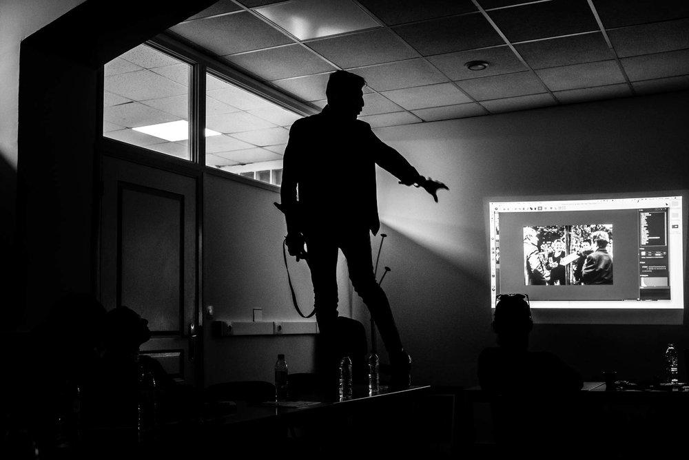 Teaching in Paris my Zero Bullshit Workshop. Photo by  Chrystel Echavidre .