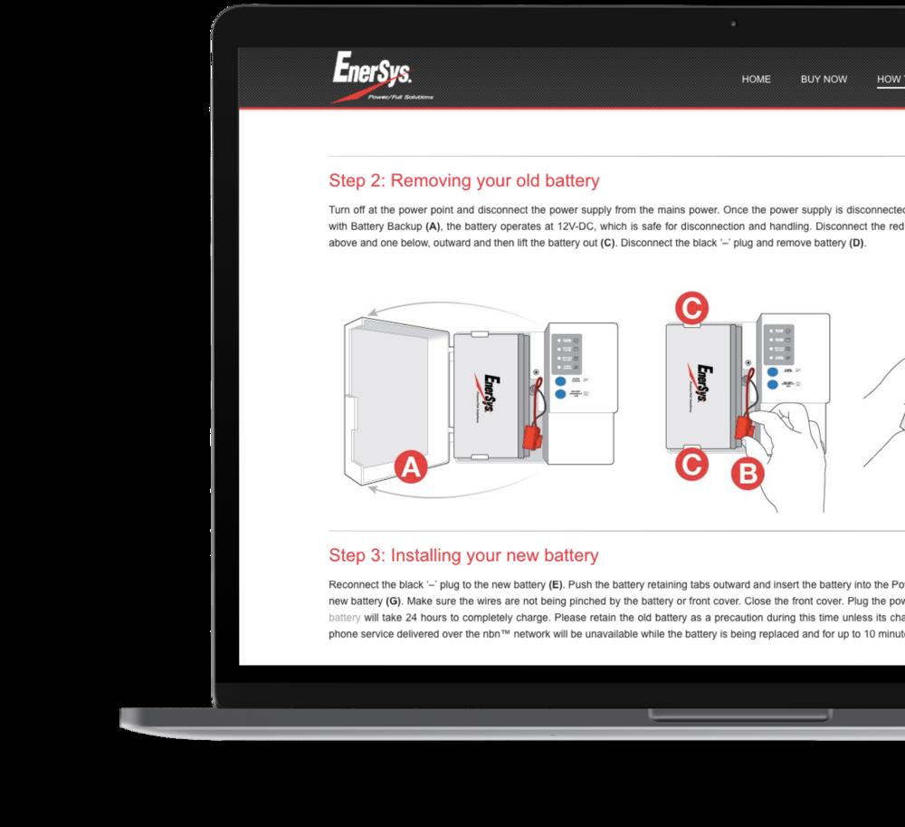 Enersys Australia Shopify Website Design