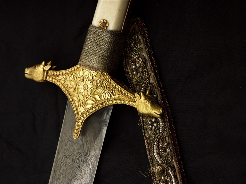 This gold-mounted sword once belonged to Maharaja Ranjit Singh