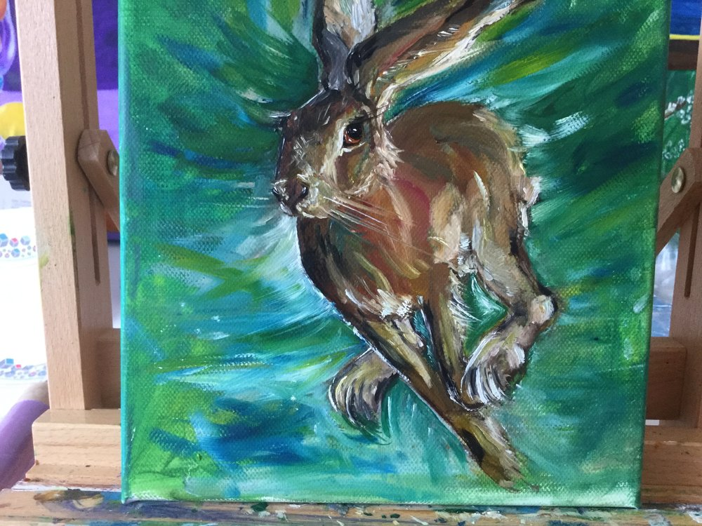 Hare in Flight