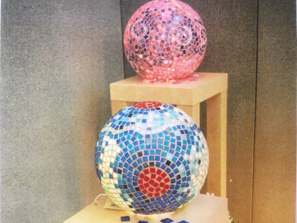 Blue & Pink Light Globes
