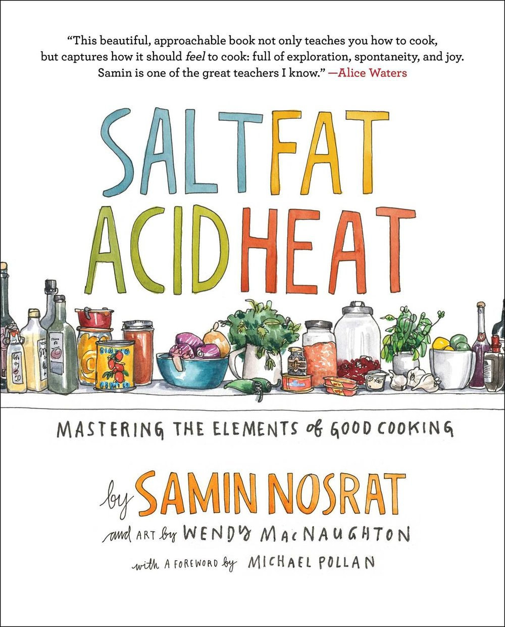 Nosrat's book truly helped transform the way I cook. When you feel  just something missing  in your dish, it's likely because the ratio of one the four flavors is off. Salt Fat Acid Heat is my Oct pick as a congratulations on her new Netflix Show!