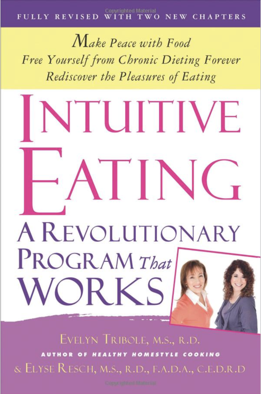 I incorporate many aspects of intuitive eating to my patient's guidelines. I found this book very helpful for my personal life and believe it to be a great resource for anyone looking to form better food relationships.