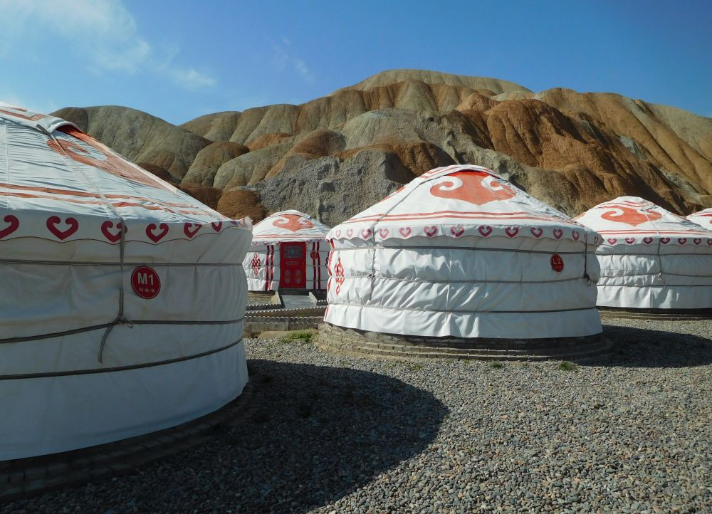 Kao Shan Luxury Yurts near the entrance of Danxia geological park. A tourist village for sure, but a cool one in which I wrung out my laundry in the open air with an elderly Chinese lady who criticized my technique.