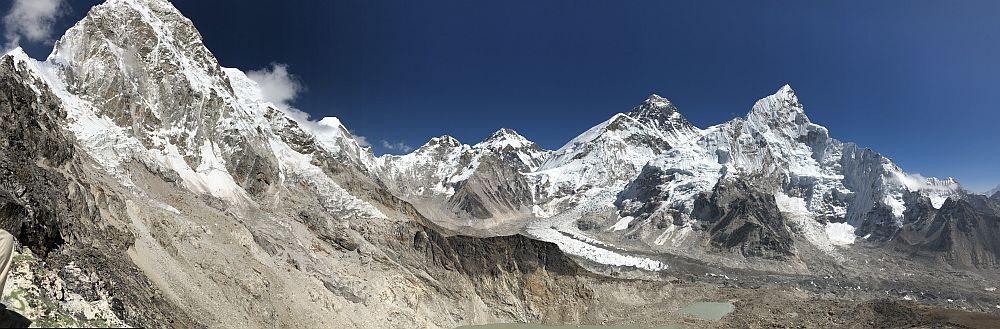 Panorama of the Himalaya, seen from Kalapatthar.