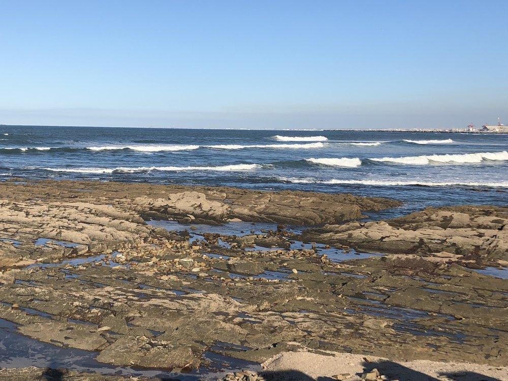 Rocks and tidepools below Phare El Hank, Casablanca.