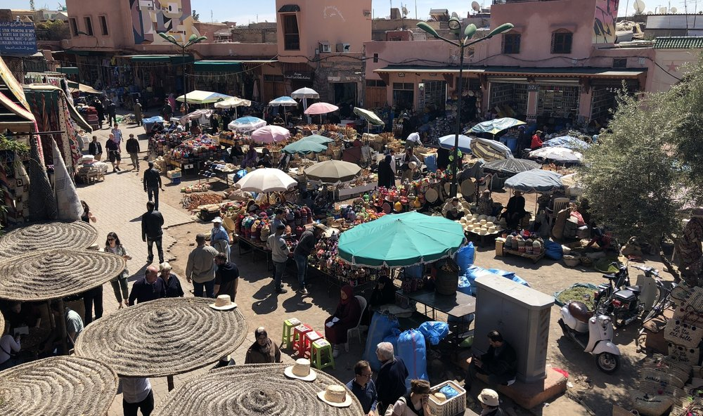 Spice market, an open square tucked into one corner of the medina.