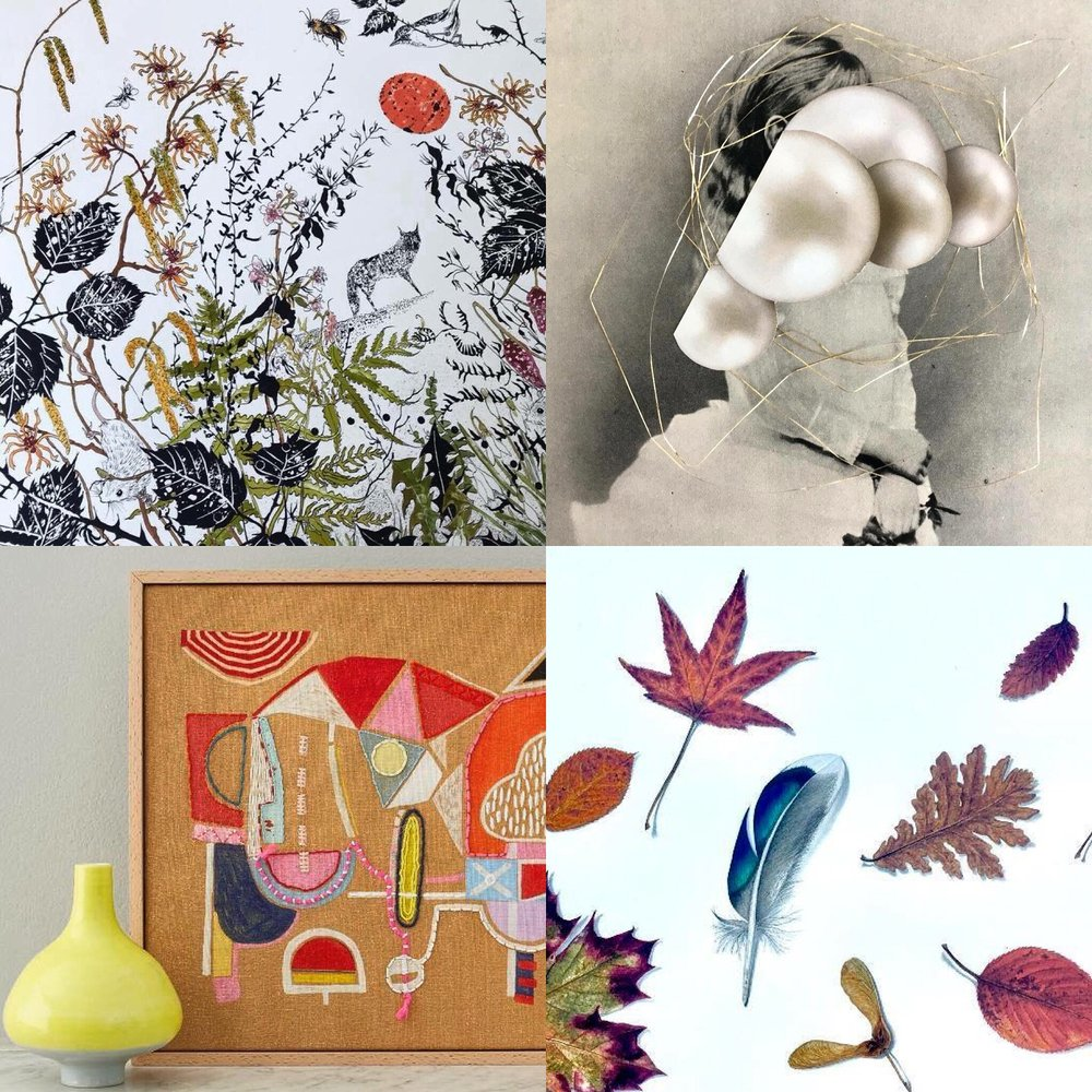 Artists' Open House - Showing new paintings along side fabulous prints, drawings and collages by Julia McKenzie, collages by Leonieke Kormelink, textiles by Melanie Bowles and ceramics by Mimi Joung.Open both weekends 12-13 & 19-20 May 2018