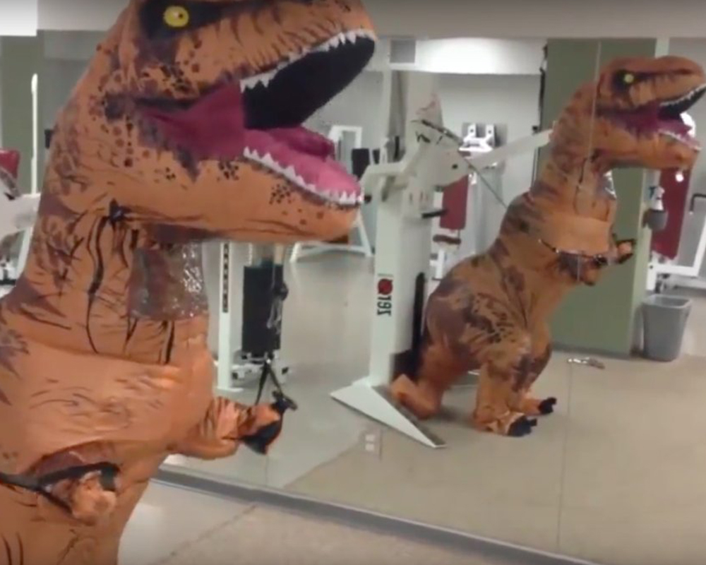 The Verge - Jurassic World's real legacy: the inflatable T-rex costume