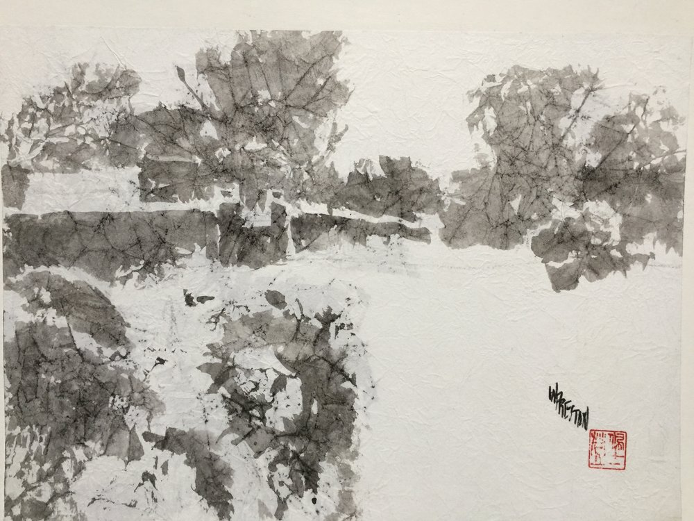 "Winter Adobe - Sumi 10x14""im $500."