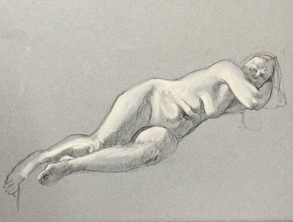 WORKS ON PAPER - life drawings & small paintings