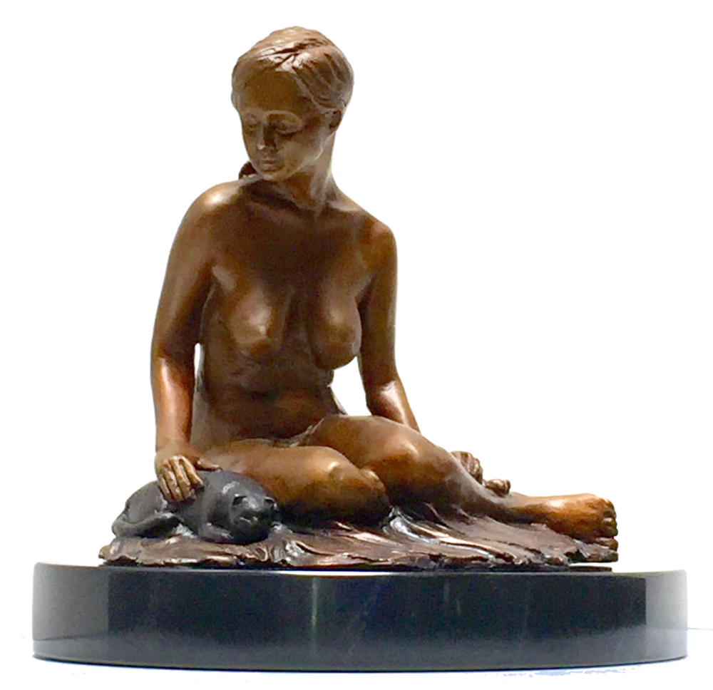 Sculpture - Traditional bronze sculptures that expressthe human form in sincere repose.