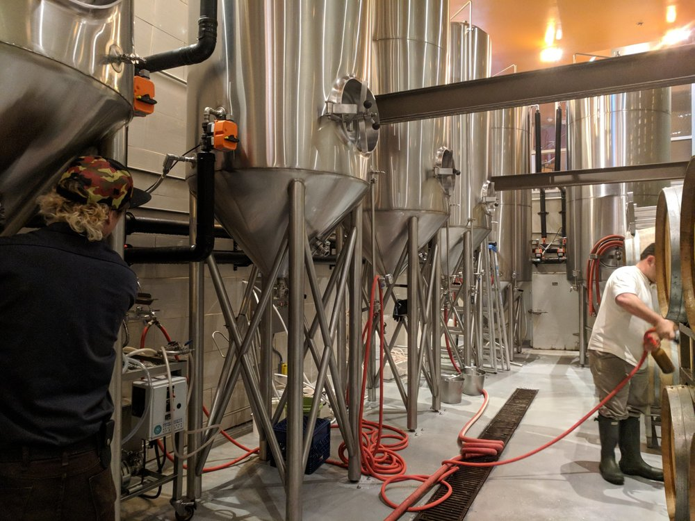 Thirsty Bear brewers at work