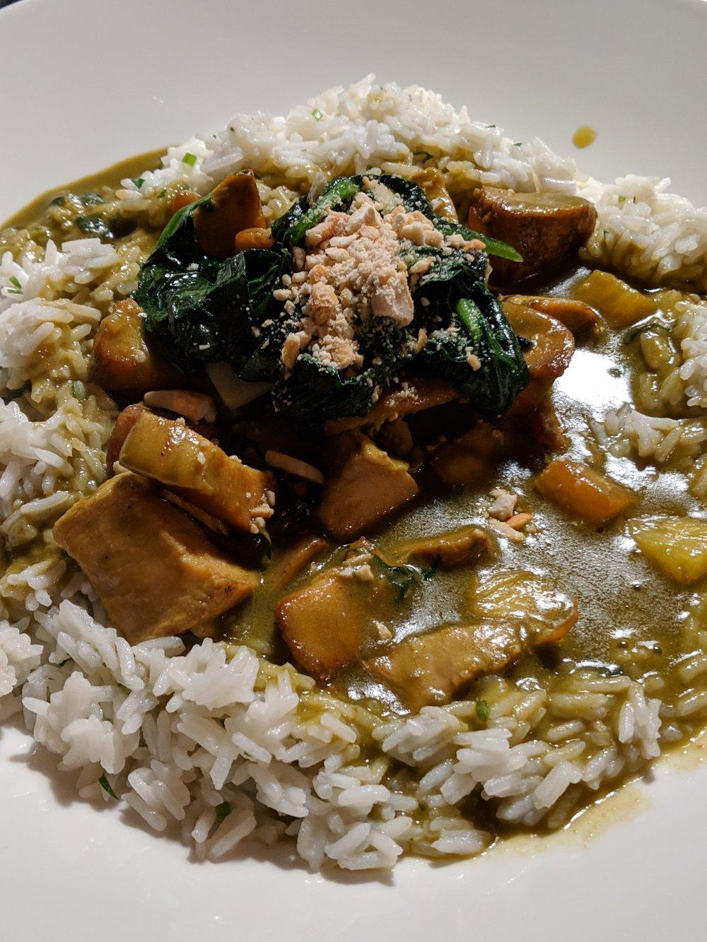 Chicken Curry at Palacio Chiado