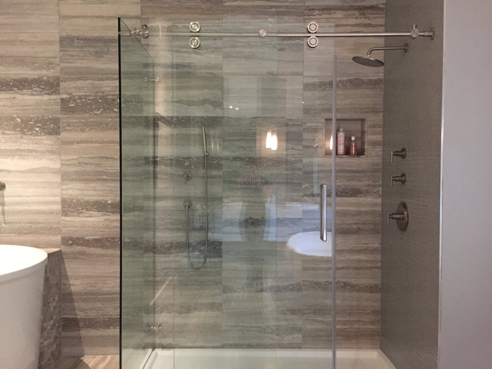 Frameless Sliding Shower Enclosure