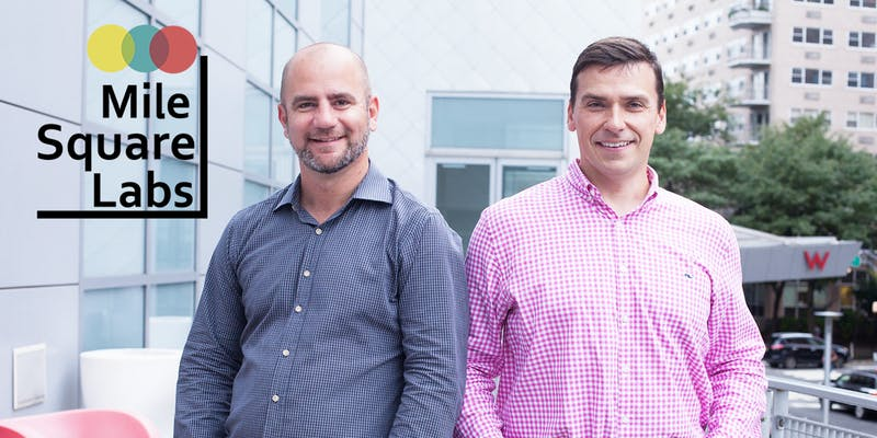 Tom Sauer (L) and Preston Junger— Co-Founders of Mile Square Labs in New York