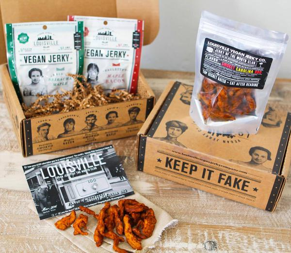 Even those with a penchant for vegan jerky can sate their appetites with a subscription box. (Photo:  Louisville Vegan Jerky )