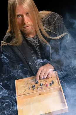 "Psychic  Chris Moon  and his ghost box, which he calls ""a device of fascination and fear."""