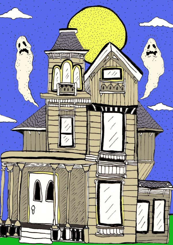 According to one study, almost 20-percent of Americans say they've seen a ghost. (Art:  Jonathan M Hall )