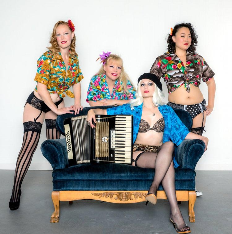 The ladies of  Al-Stravaganza : (From left to right) Marla Spanks, Pearl E. Gates, Odessa Lil, and Pickles Kintaro. (Photo: Illume Allure Imagery)
