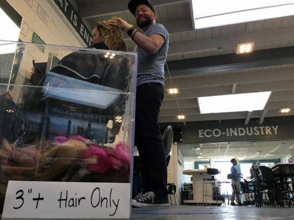 At Matter of Trust's S.F. headquarters, there is also a hair salon called Pitch that donates its scraps to the charity. (Photo:  Matter of Trust )