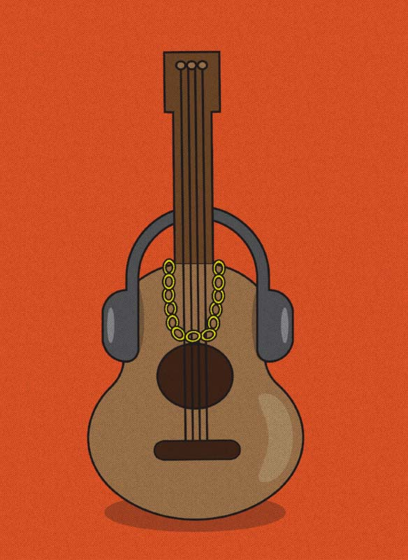 Hip-hop and ukulele are odd bedfellows, but they work. (Art:  Sam Graap )