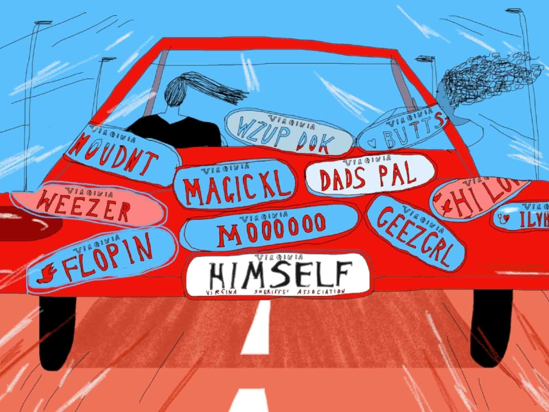 Personalized license plates are a way to show off your personality and sense of humor. (Art:  Hannah Buckman )