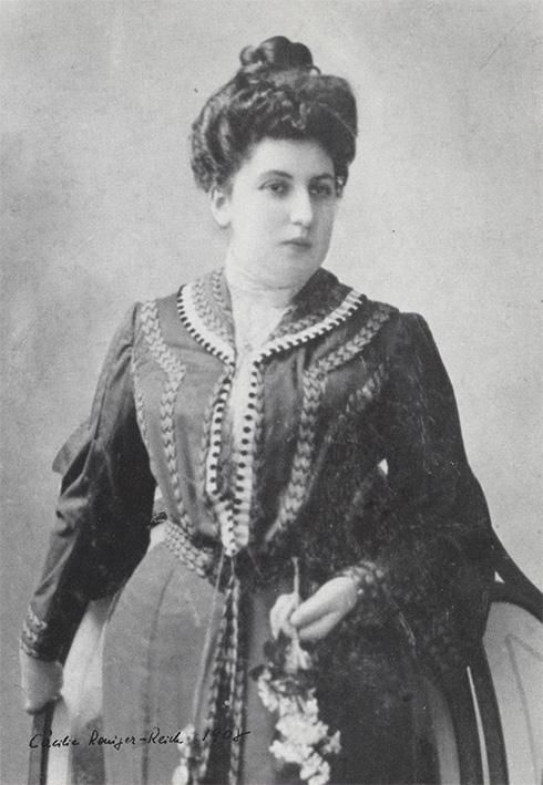 Wilhelm Reich's mother Cecilia Roniger-Reich, 1908