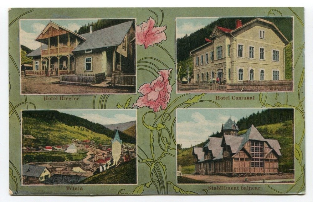 Postcard of Iacobeni (near Suceava), 1920ies
