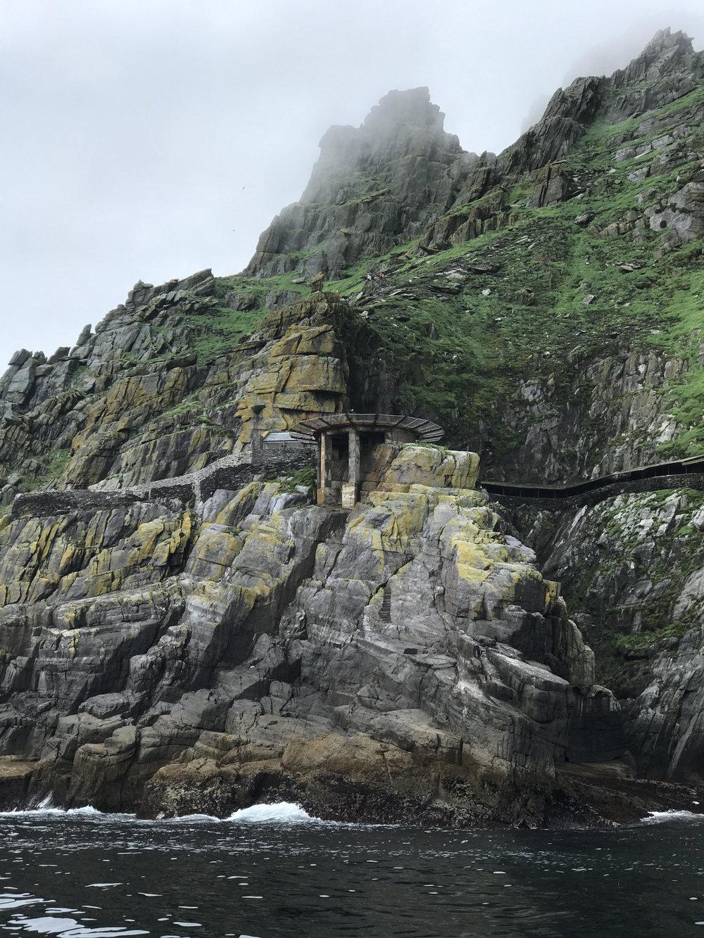 Skellig Michael, where Star Wars was filmed