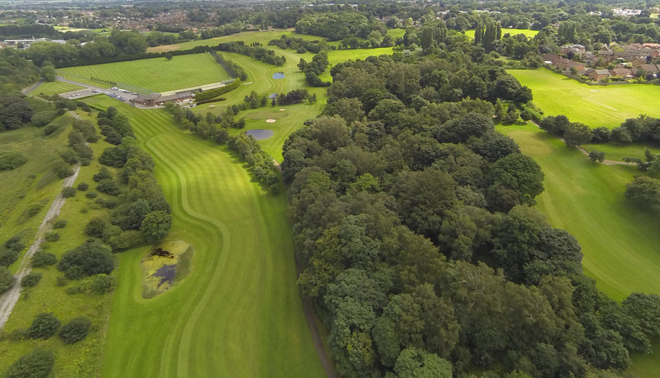 Aerial view of Hartford Course