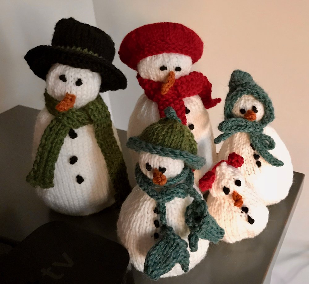 Purl Bee Knit Snowmen