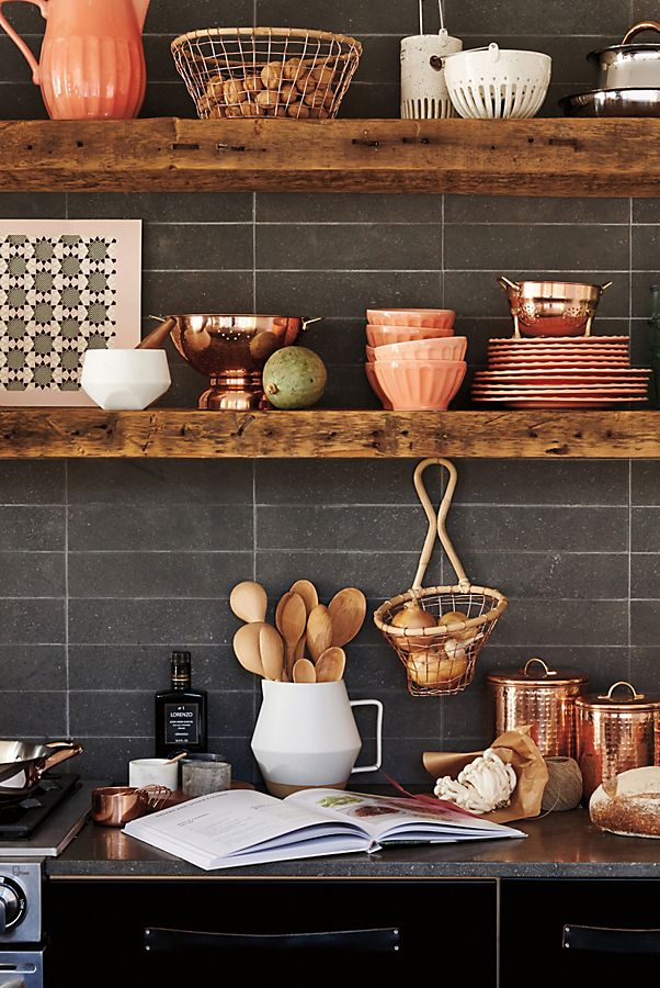 copper accent pieces for the kitchen