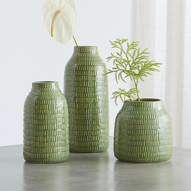 Verde Green Vases