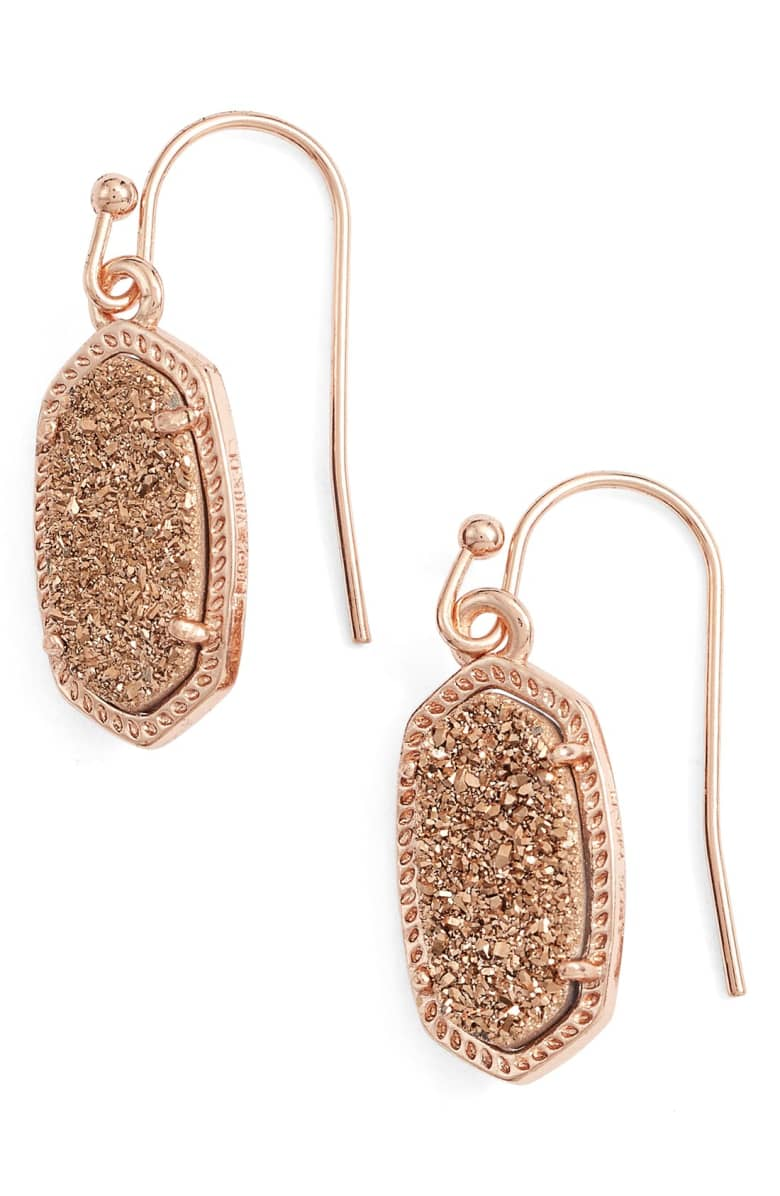 Kenda Scott Rose Gold Drusy Earrings
