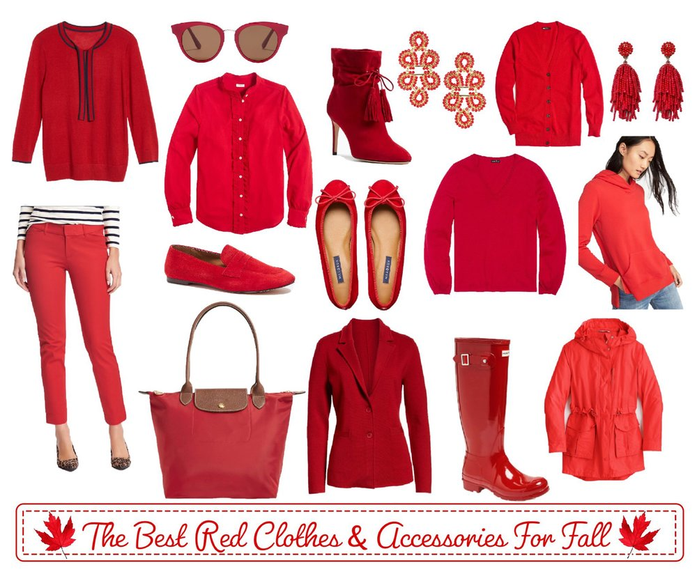 The Best Red Clothes and Accessories For Fall