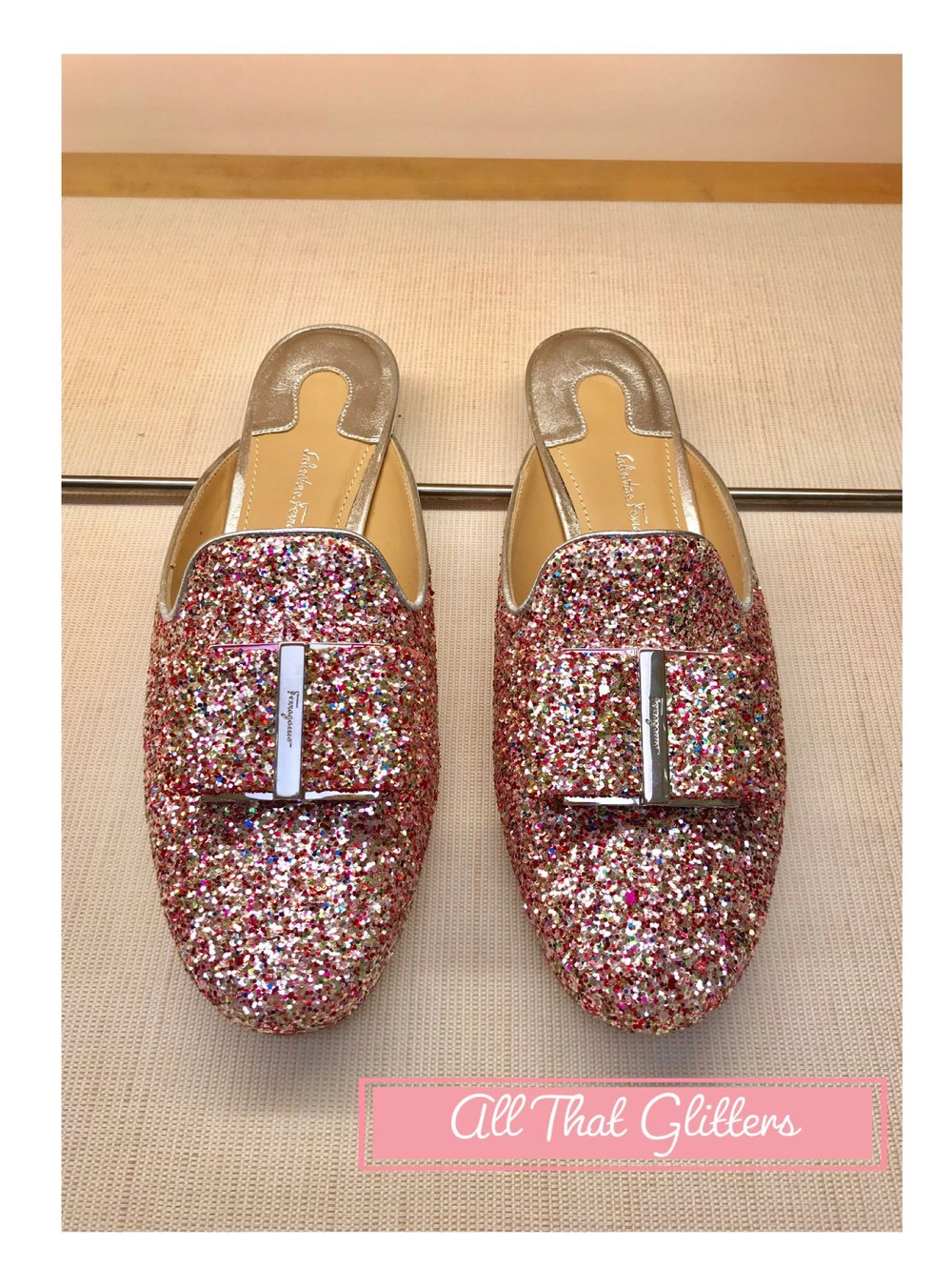 Salvador Ferragamo Glitter Shoes