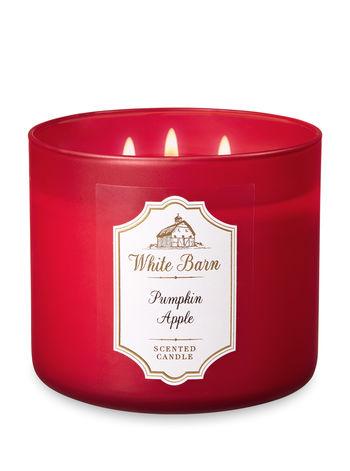 White Barn PUMPKIN APPLE 3-Wick Candle
