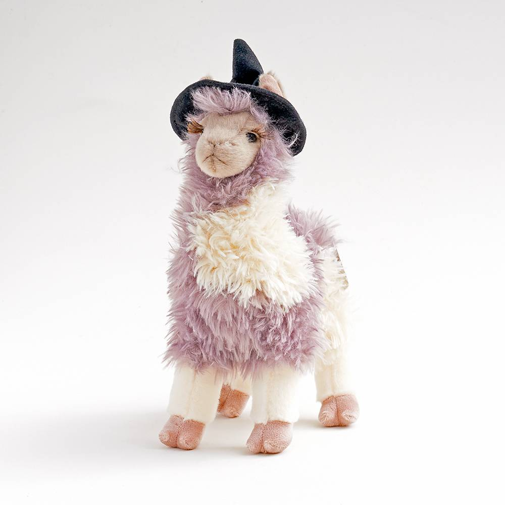Llama with witches hat