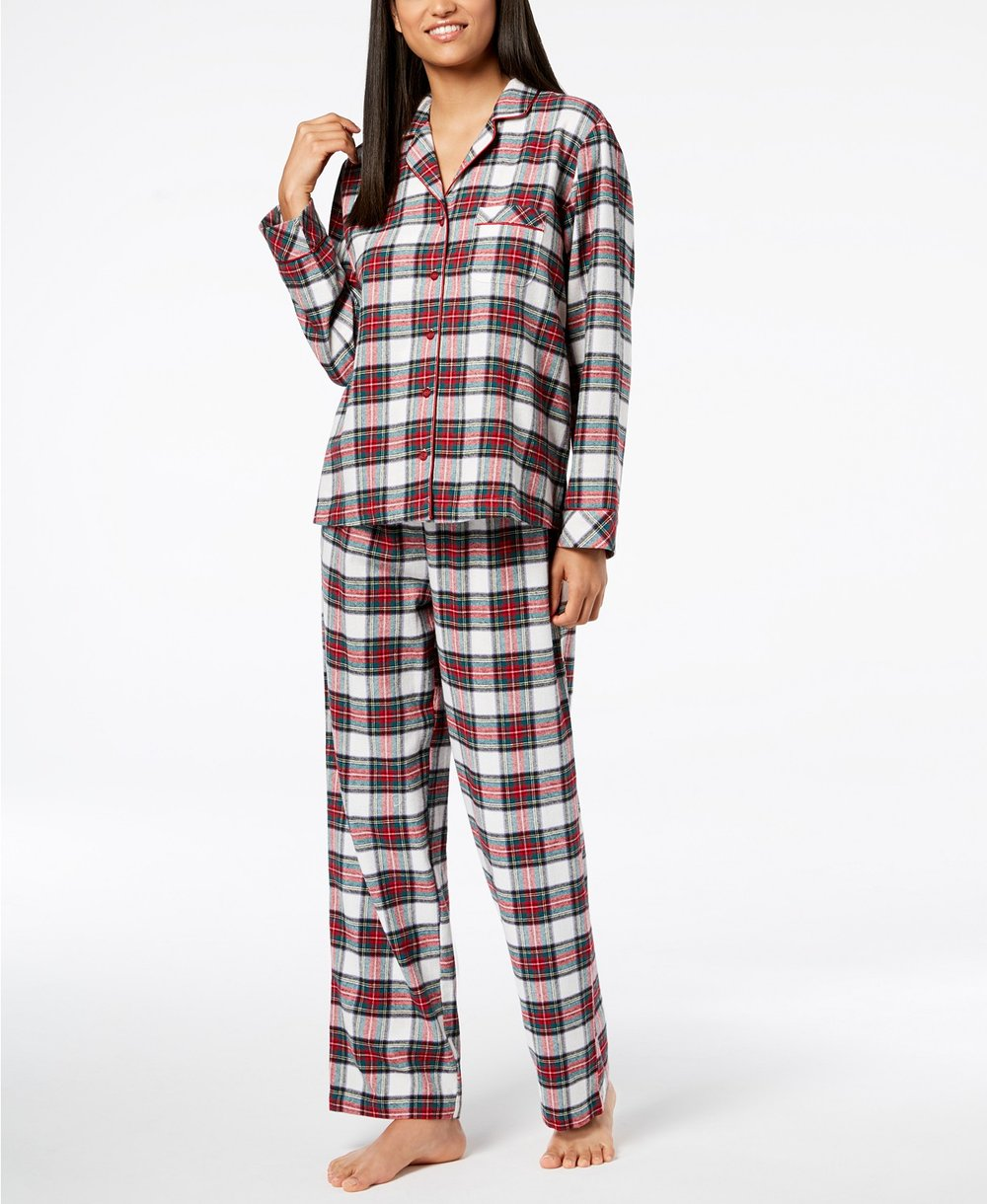 plaid holiday pajamas