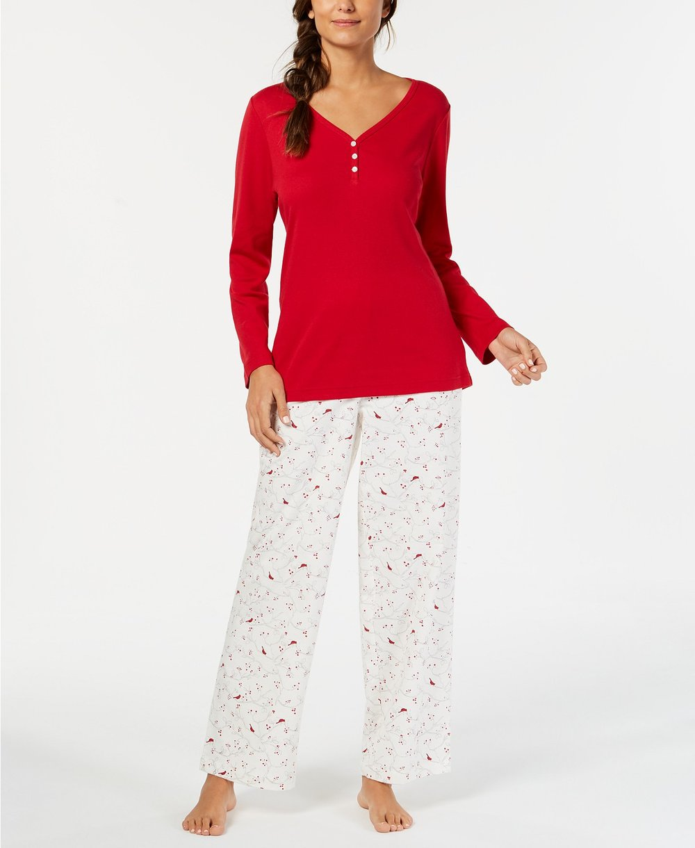 Macy's women's holiday pajamas