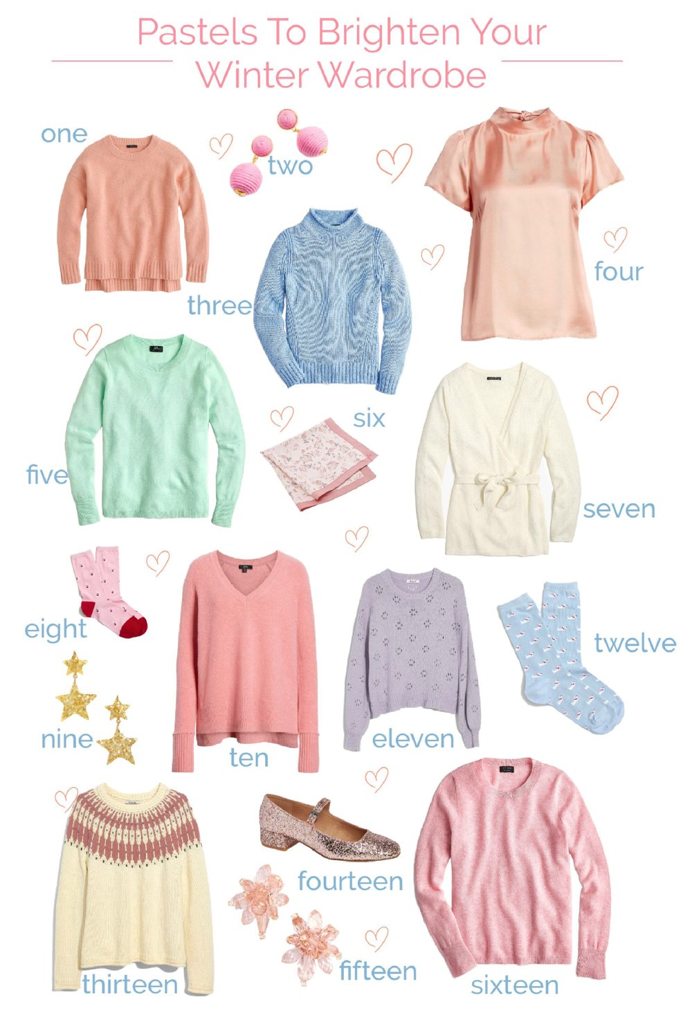 Pastels to brighten your winter wardrobe