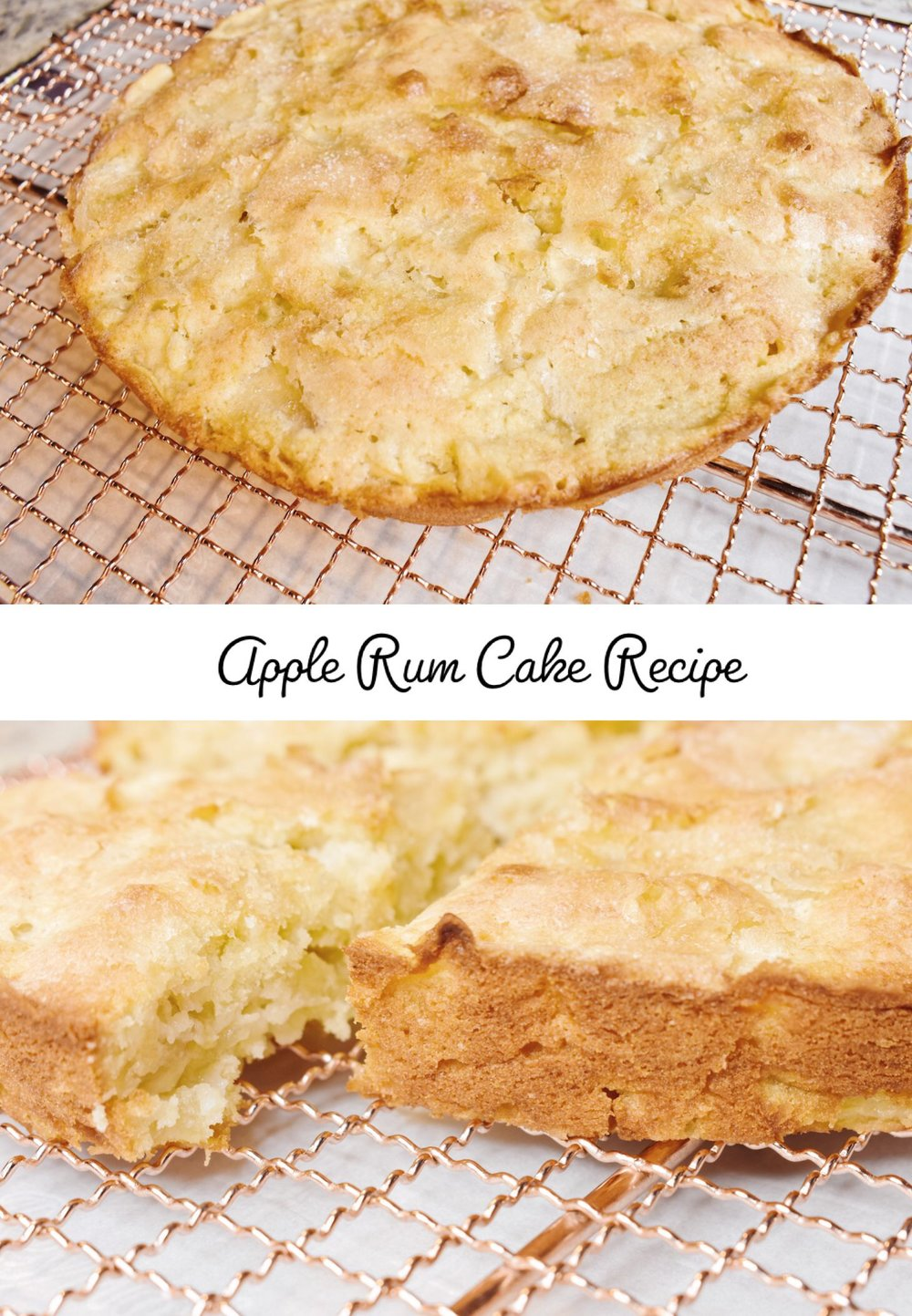 Apple Rum Cake Recipe