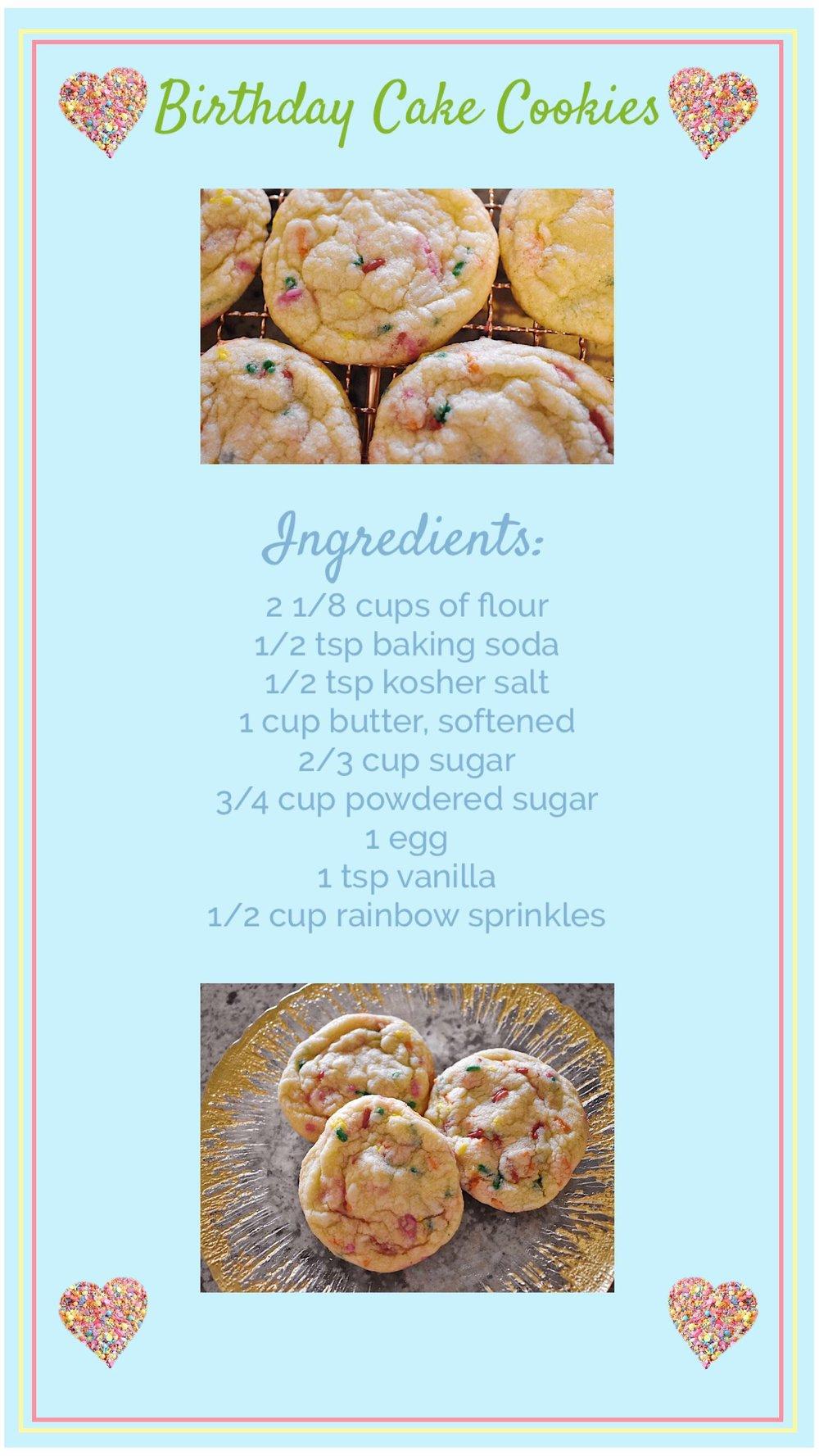 birthday cake cookie recipe
