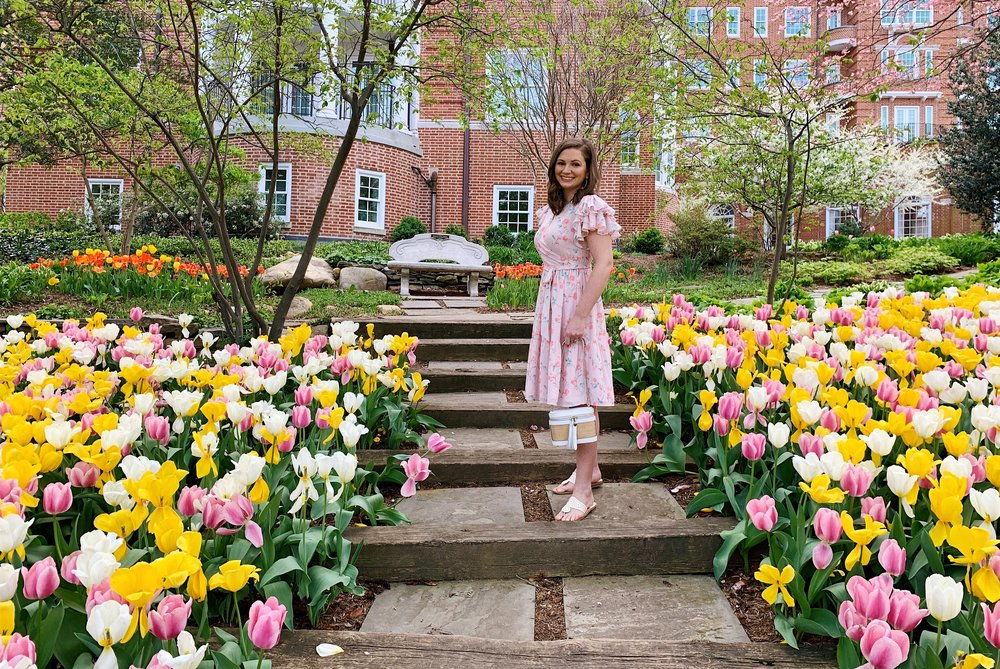 Rachel Parcell Tiered Ruffle Sleeve Dress