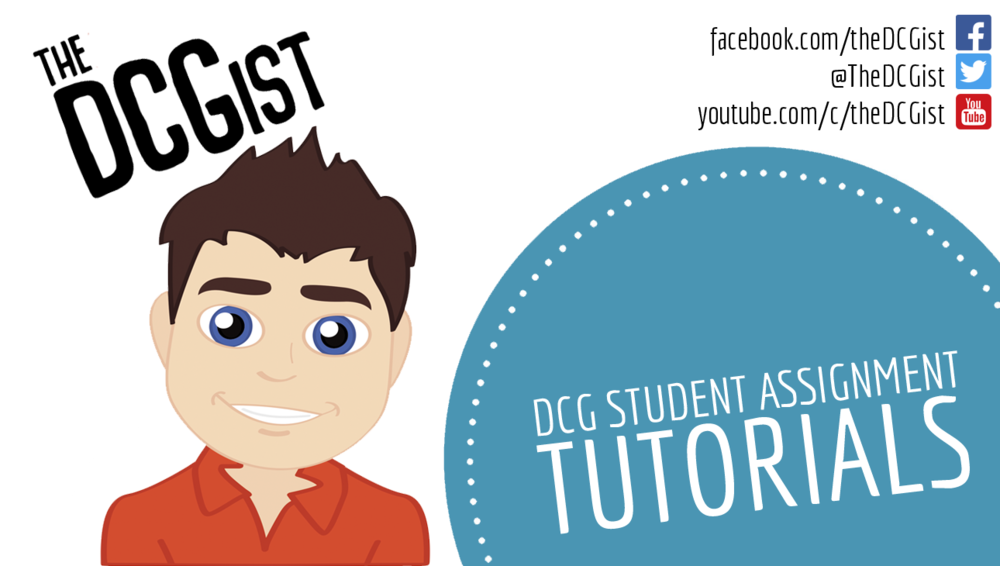 General DCG Student Assignment Videos - These videos look at the practical aspect of the DCG student outside of just the 9 outputs. It looks at topics such as the marking scheme, referencing, formatting, etc.
