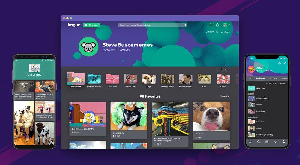 Imgur Favorite Folders Web & Mobile